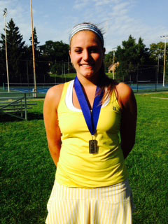 Alicia Nahhas, Notre Dame Academy - 1st Singles Champion & TRAC Player of the Year